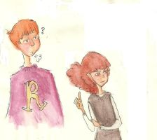 Big Ron and Hermione by nou-hitsu