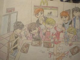 The Host Club Goes to McDonald by caged-birds