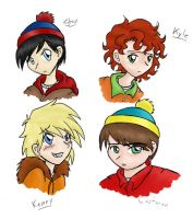 Some Friends of Mine Colored by Invader-Sam