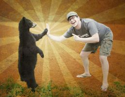 Bear Hi Five by LightBombMike