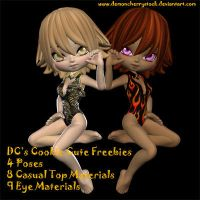DC Cookie Freebies for Poser by DemoncherryStock
