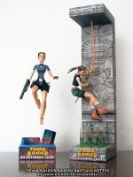 Tomb Raider papercraft vignettes by ninjatoespapercraft