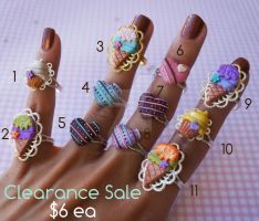 Clearance Sale!!! Rings by colourful-blossom
