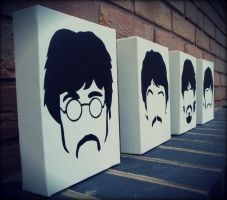 The Beatles - Sgt Peppers Stencil Spray Paint by RAMART79