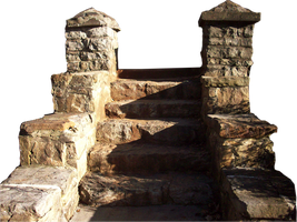 Transparent PNG rock steps by Pickyme