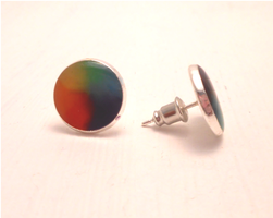Handmade rainbow / gay supportive earrings / studs by MiniSweetx