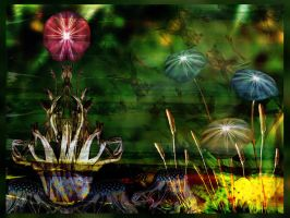 Alice's Psychedelic Garden by Luxwiz