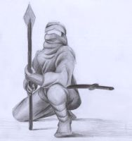 ninja with pencil by stuess