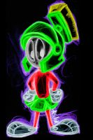 marvin the martian neon by AlanSchell