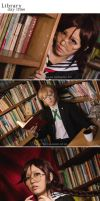 Dangan Ronpa: Library by fritzfusion