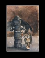 The cat and hydrant by sanderus