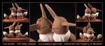 Commission : Two Eevees by emilySculpts