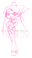Blossom PSG Style Sketch by Natsumi-chan0wolf