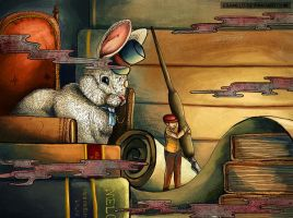 Edward Clockwood and the Wise Rabbit by kibumie-art