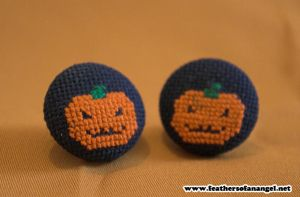 Pumpkin Earrings by SongThread