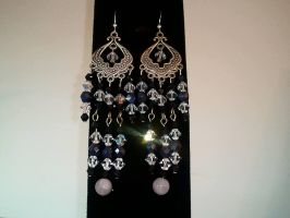 Crystal Chandelier Earrings by MysticalMayhemJewel