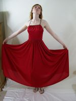 Long Red Dress 8 by chamberstock