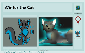 Winter the Cat Reference by PandaTJ
