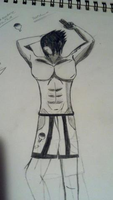 Sasuke Uchiha six pack by 9TailsRox