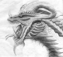 Unfinished Hell Dragon by Dragonio3