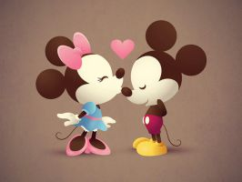 Mickey And Minnie Wallpaper by MizzTutorials