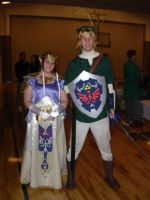 Zelda and Link Costume 1 by sugarpoultry
