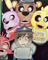 Five Nights At Freddy's w/ me by KuroWasNotHere