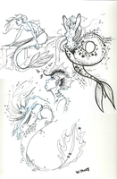 mermaids!!! by withery