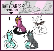 Sparkle CLOSED by sugarcakes-adopts