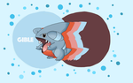 Gible - Pokemon Background by lonelystarlight