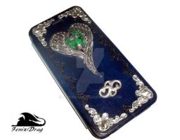 Blue Leather Case for iPhone 6 Vintage Steampunk by FenixDrag