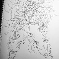 Future Trunks ssj3 by bloodsplach