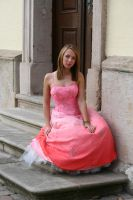 Pink dress stock 16 by Malleni-Stock