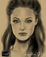 Angelina Jolie Portrait by lovechin88