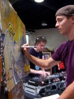 Painting wit Cut Chemist by draweverywhere