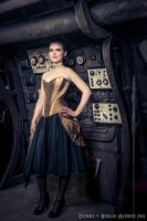 Gold overbust corset dress 2012 collection '' by Esaikha