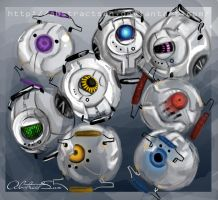 Portal :Personality Cores by AbstractSun