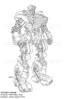 Autobot Hound Pencil Drawing by Jamie-Egerton