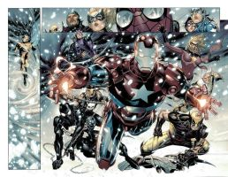 FCBD Avengers p.8-9 by JohnRauch