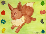 Eevee Yay! by Sandy--Apples