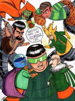 Sinister Six Puppets by Justin3000