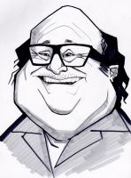 Danny DeVito caricature by j0epep