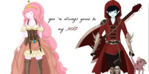 Marshall Lee and Princess Bubblegum 2 by kawaii-cutie-pie