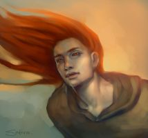 red-haired by satiiiva