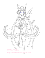 Koinu :: Powered-Up -lineart- by Iridescent-Princess