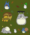 Totoro Sticker Sheet by Soseiru