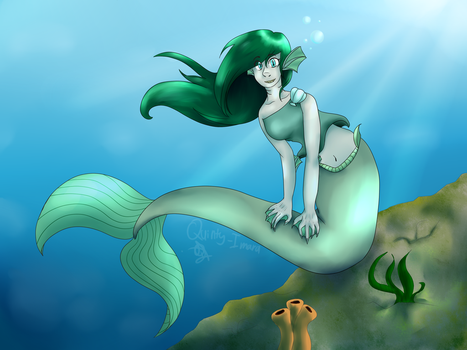 Mermaid Redraw (3 years diffrence!) by Quinty-Imara