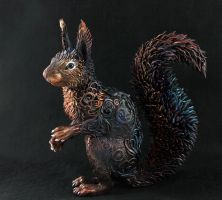Life size black Squirrel by hontor