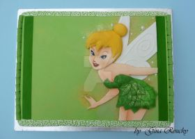 Flat Tinkerbell Cake by ginas-cakes