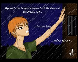 Kyo in the Rain by EliaJasmine